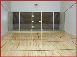 racquetball court installation construction